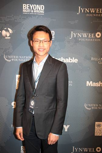 Director of Jynwel Charitable Foundation Mr. Szen Low attended the 2014 Social Good Summit with his brother and Co-Director, Mr. Jho Low.