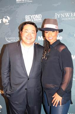 Mr. Jho Low (pictured left), on behalf of Jynwel Charitable Foundation, is joining forces with Alicia Keys in support of her new campaign that is uniting the world for social good. #WeAreHere